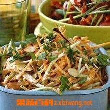 果蔬百科胡萝卜青花菜嫩茎沙拉